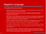 negative language