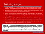 reducing hunger