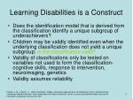 learning disabilities is a construct3