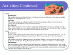 activities continued10