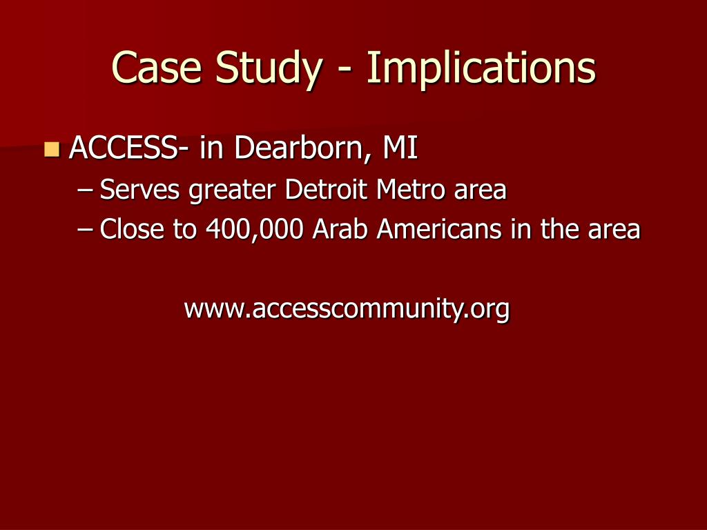 Case Study - Implications