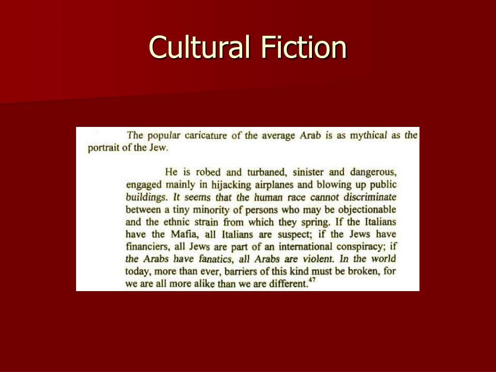 Cultural Fiction