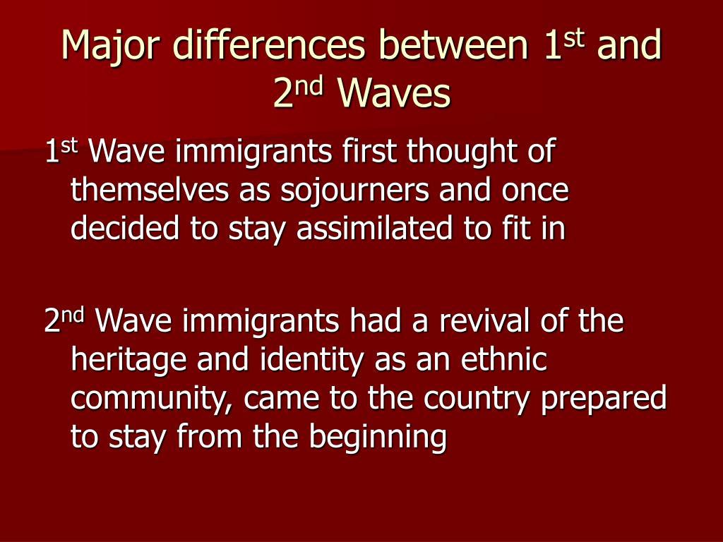Major differences between 1