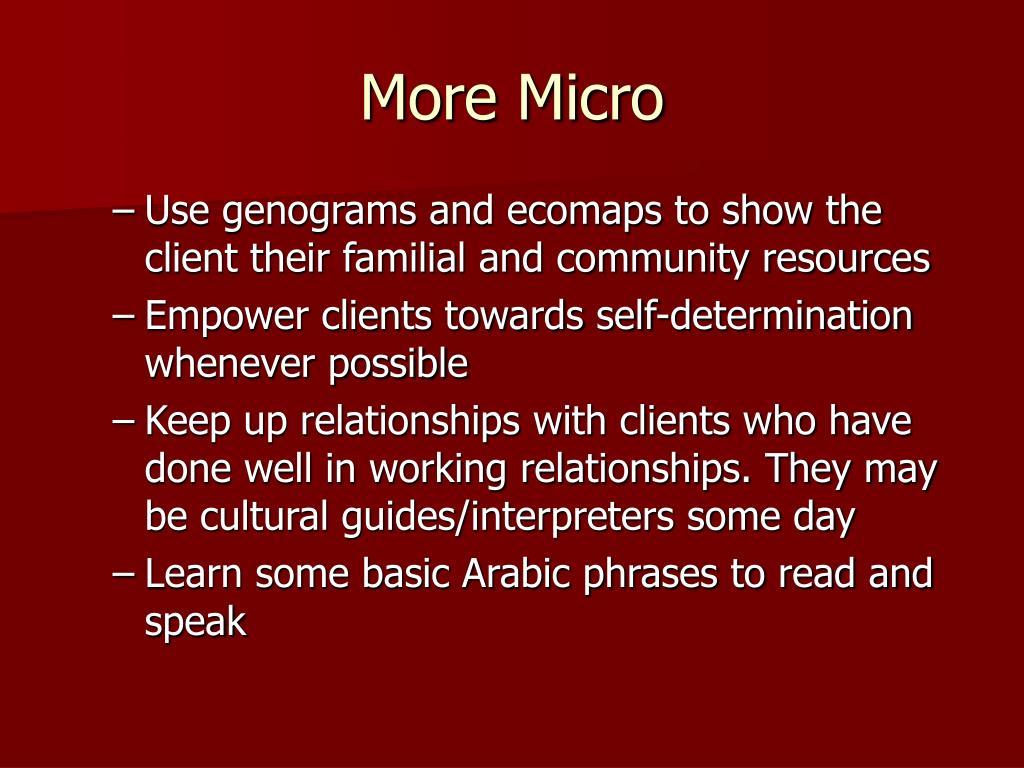 More Micro