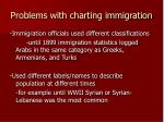 problems with charting immigration