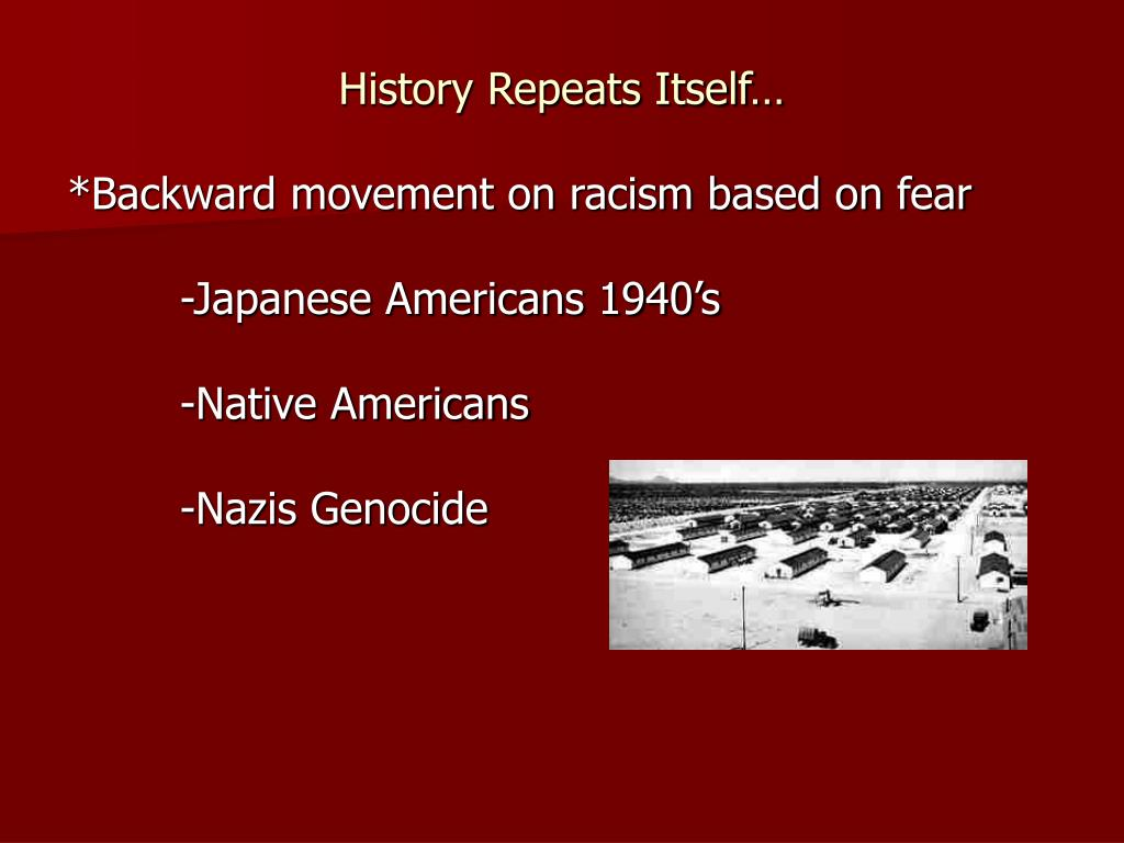 History Repeats Itself…
