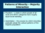 patterns of minority majority interaction