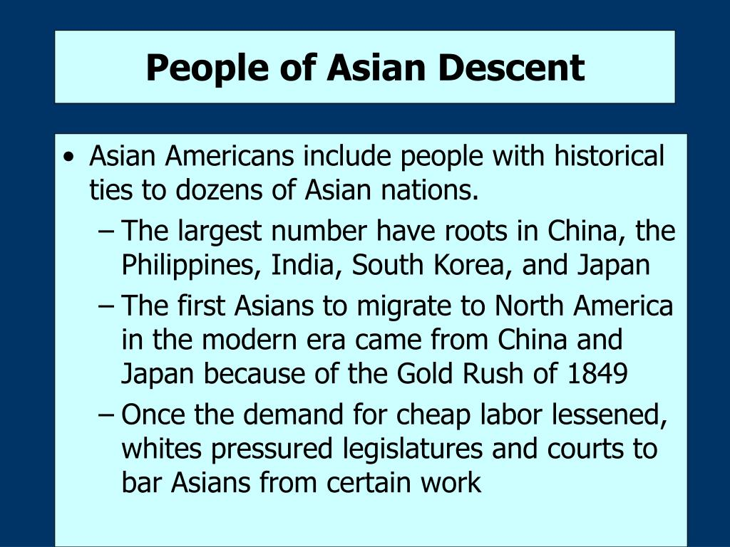 People of Asian Descent