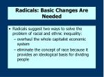 radicals basic changes are needed
