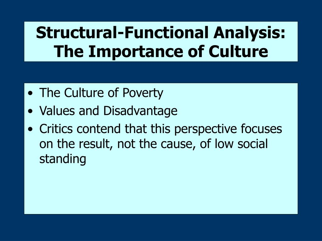 Structural-Functional Analysis: The Importance of Culture