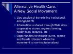 alternative health care a new social movement