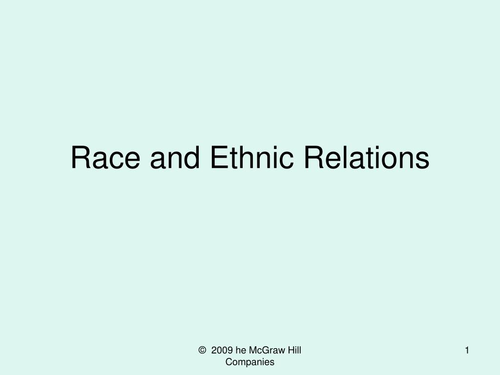 race and ethnic relations l.