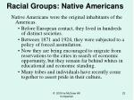 racial groups native americans