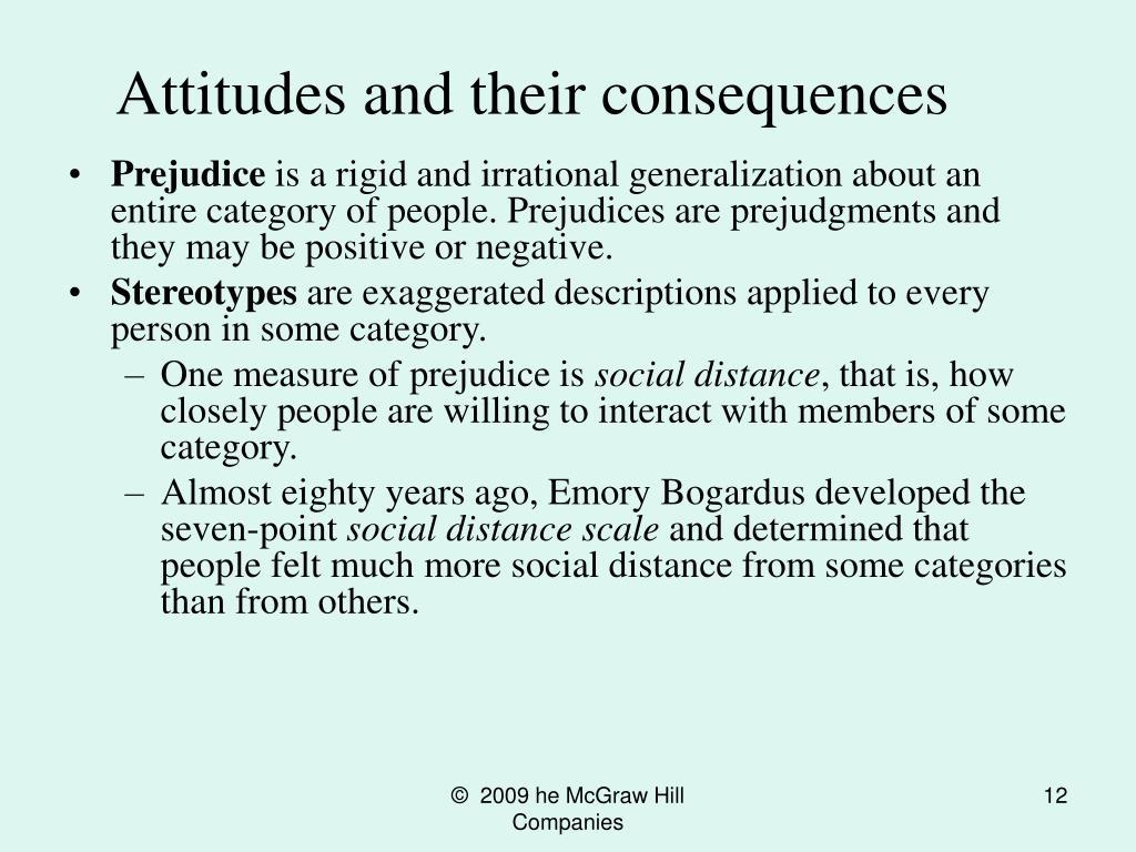 Attitudes and their consequences