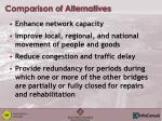 comparison of alternatives