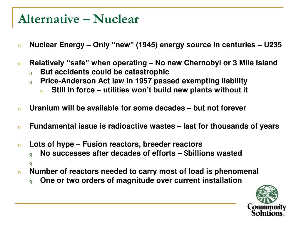 Alternative – Nuclear