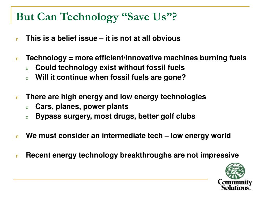 """But Can Technology """"Save Us""""?"""
