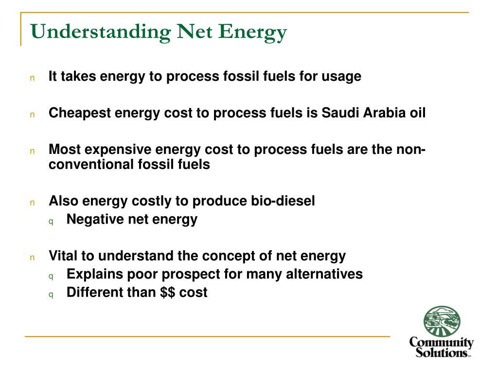 Understanding Net Energy
