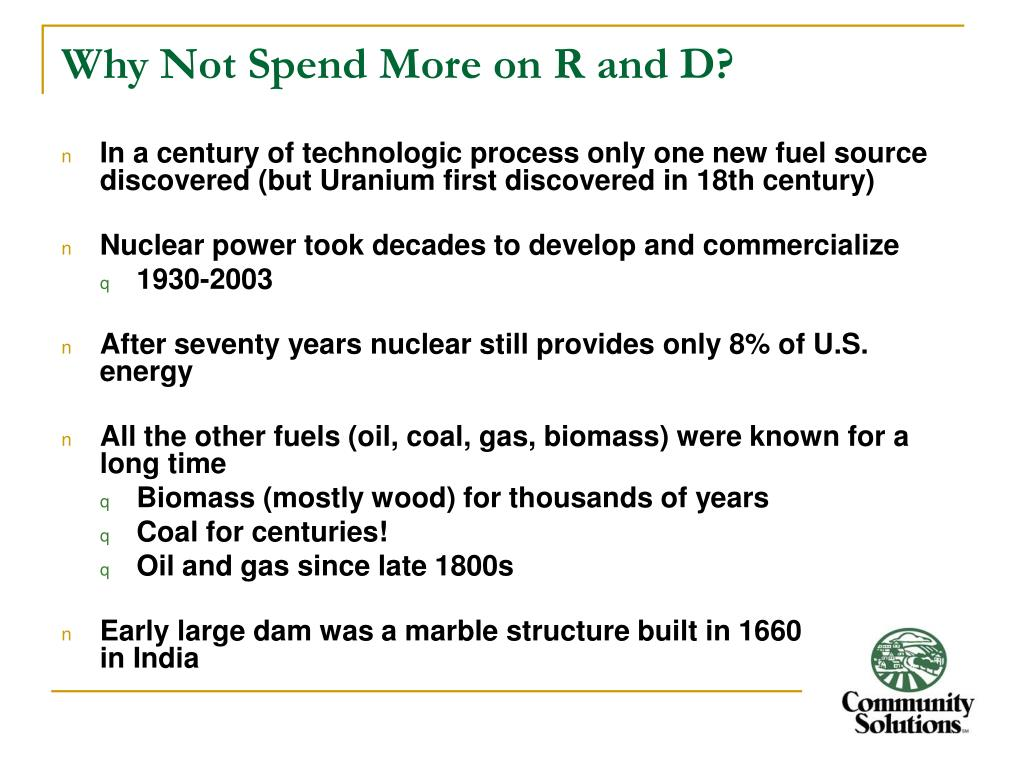 Why Not Spend More on R and D?