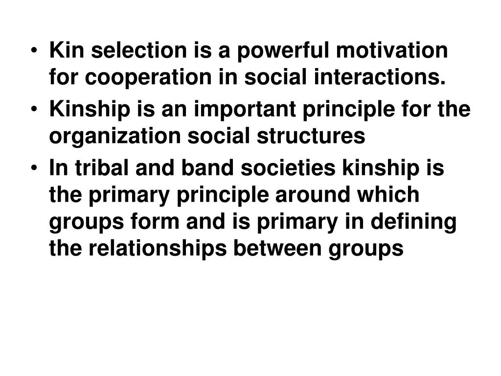 Kin selection is a powerful motivation for cooperation in social interactions.