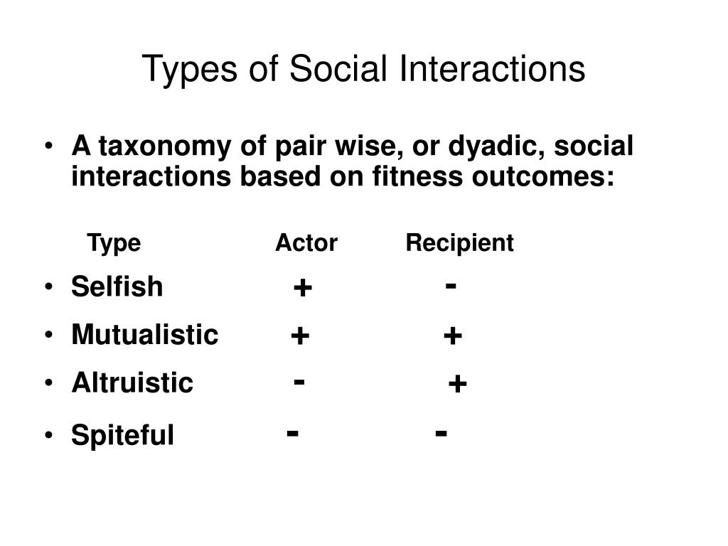 Types of Social Interactions