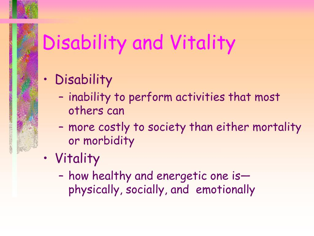 Disability and Vitality