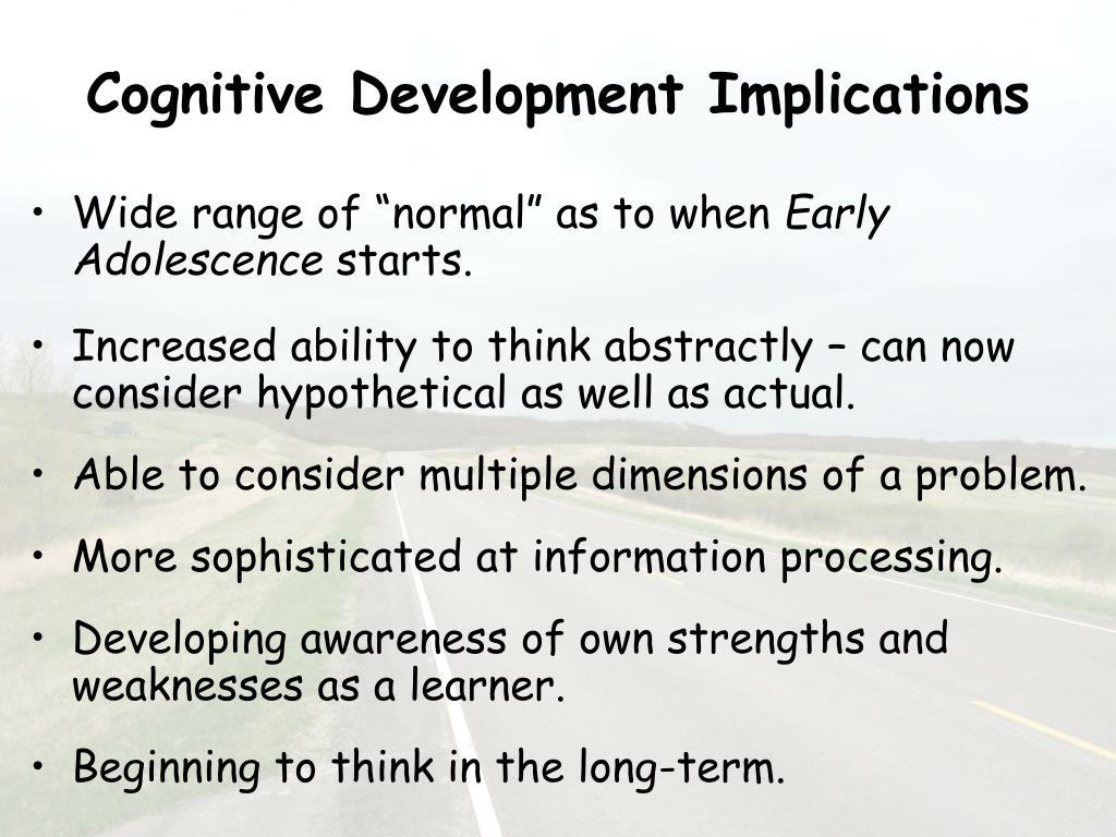 Cognitive Development Implications