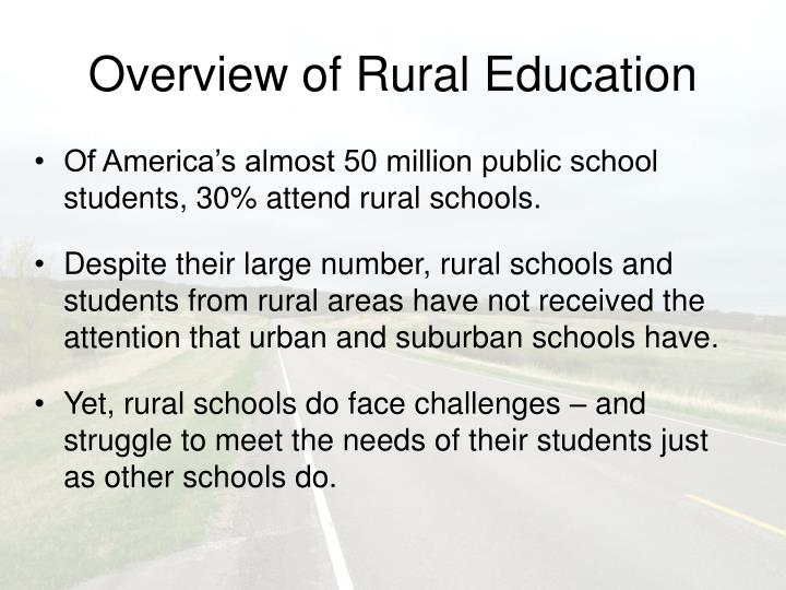 Overview of rural education