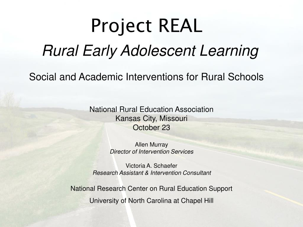 project real rural early adolescent learning social and academic interventions for rural schools l.