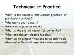 technique or practice