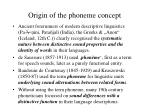 origin of the phoneme concept