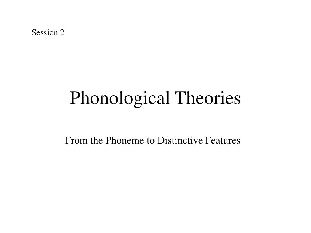 phonological theories l.