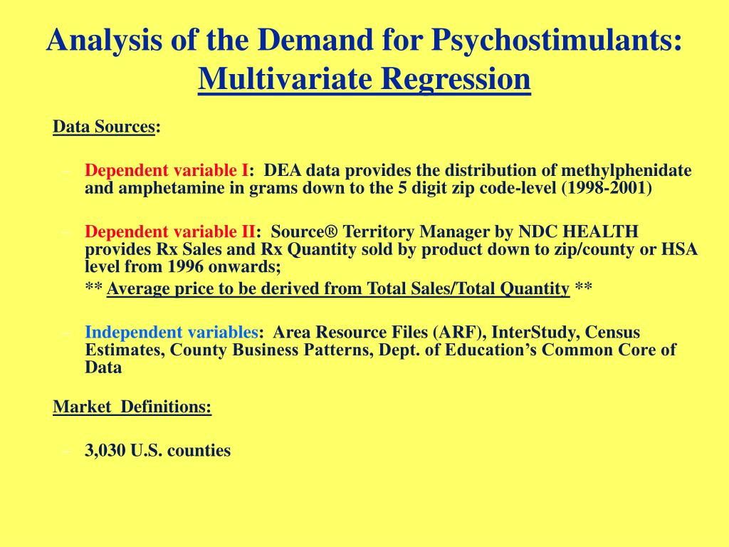 Analysis of the Demand for Psychostimulants: