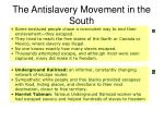 the antislavery movement in the south36