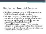 altruism vs prosocial behavior
