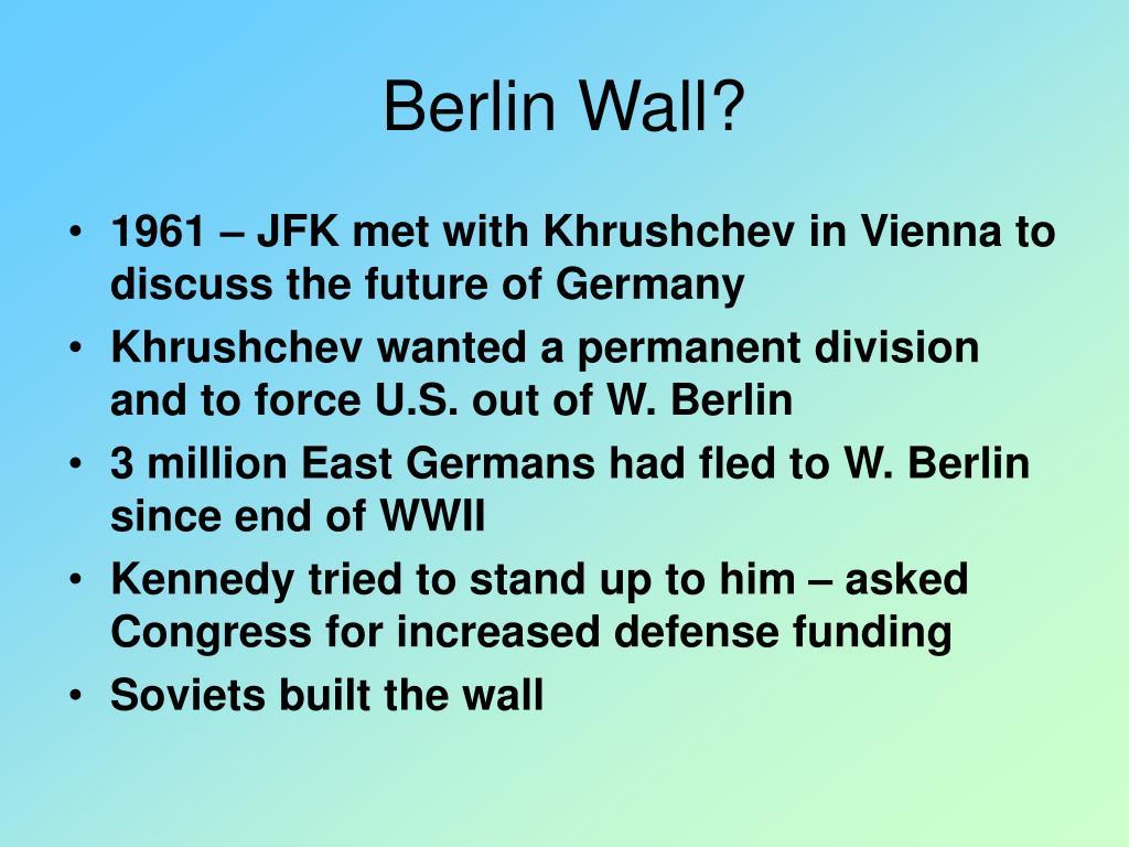 Berlin Wall?