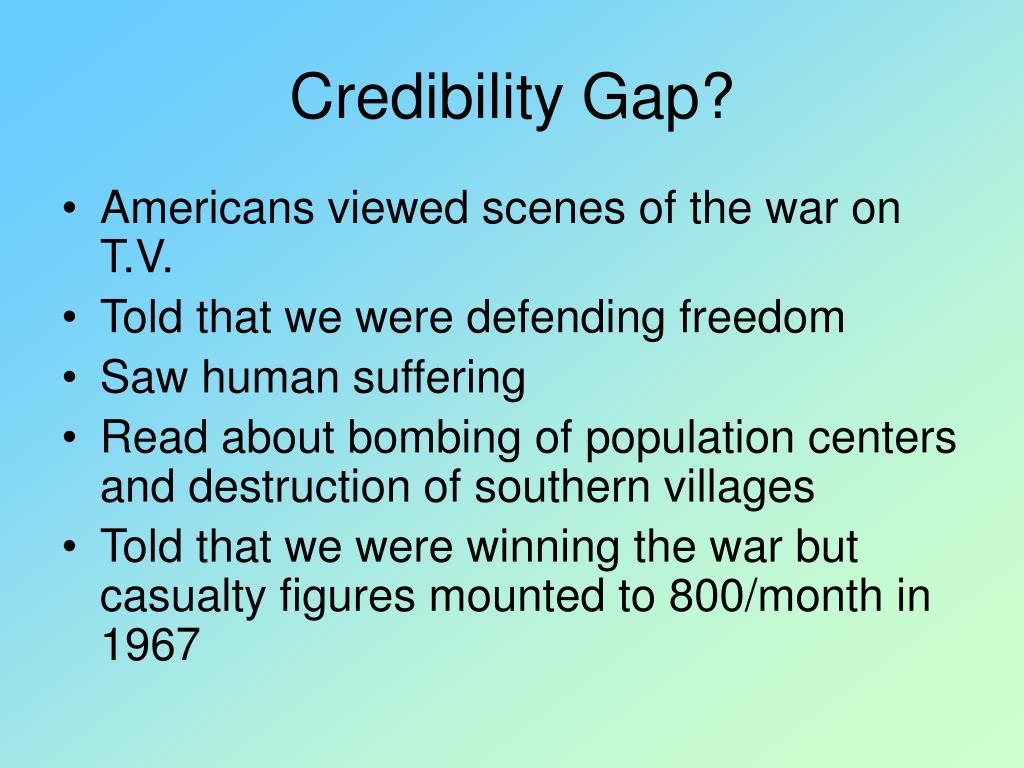 Credibility Gap?
