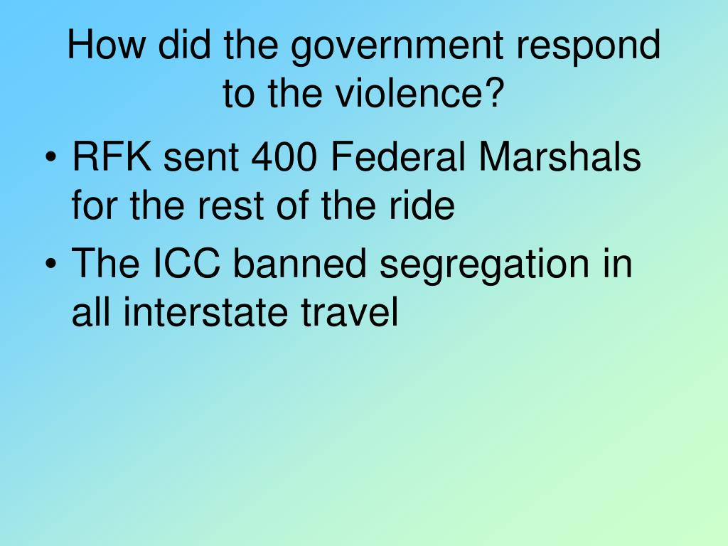 How did the government respond to the violence?