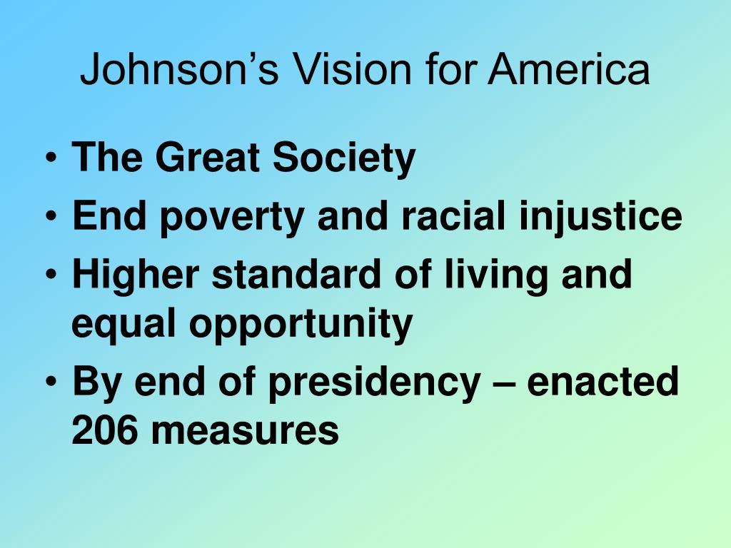 Johnson's Vision for America