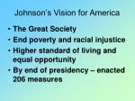 johnson s vision for america