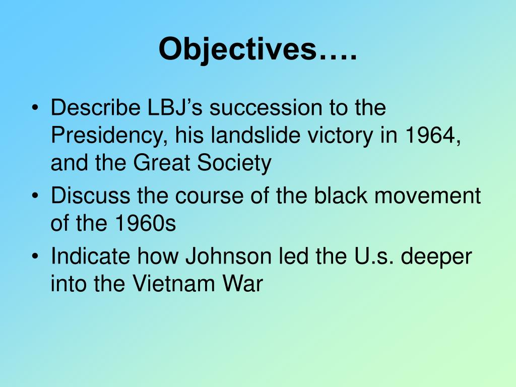 Objectives….