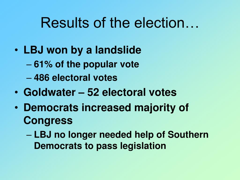 Results of the election…