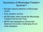 successes of mississippi freedom summer