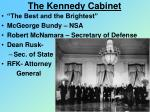 the kennedy cabinet