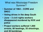 what was mississippi freedom summer