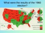 what were the results of the 1960 election