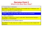 decision point 3 what is the best next step16