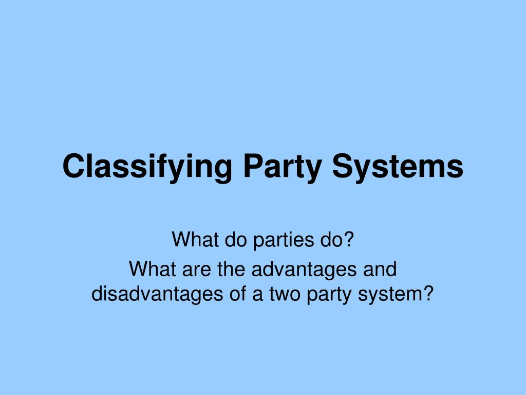 classifying party systems