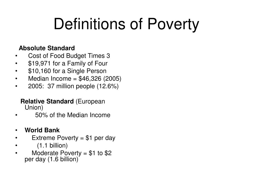 definitions of poverty l.