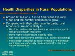 health disparities in rural populations
